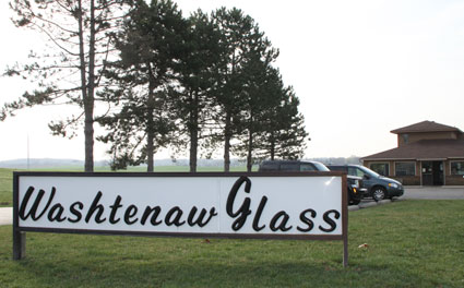 Washtenaw Glass Sign